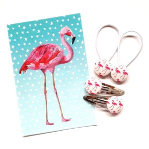 White Flamingos 23mm Set flatlay