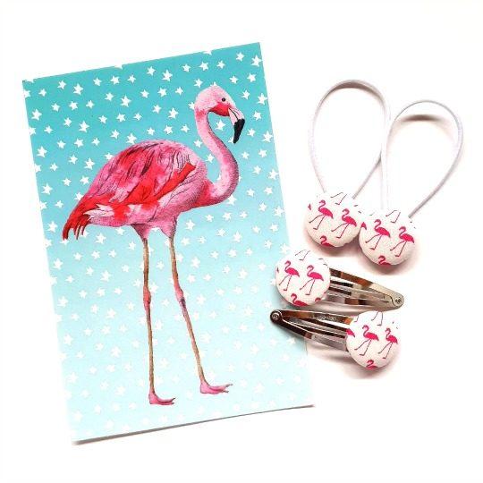 White Flamingos 23mm Set flatlay