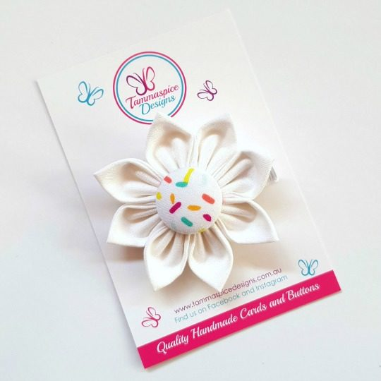 Icecream Sundae Flower Clip