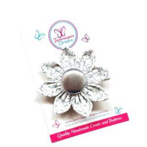 Silver Baroque Flower Clip