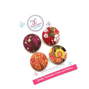 Oriental Floral Magnets