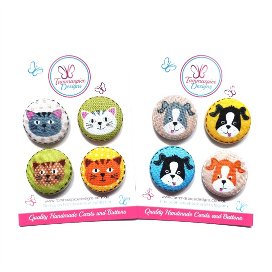 Cats and Dogs 28mm Magnet Sets