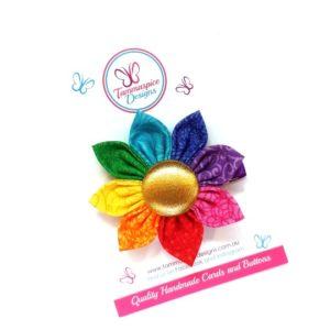 Rainbow Love 2.0 Flower Clip