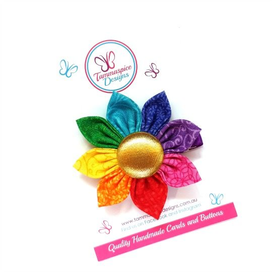 Rainbow Love 2.0 Flower Clip