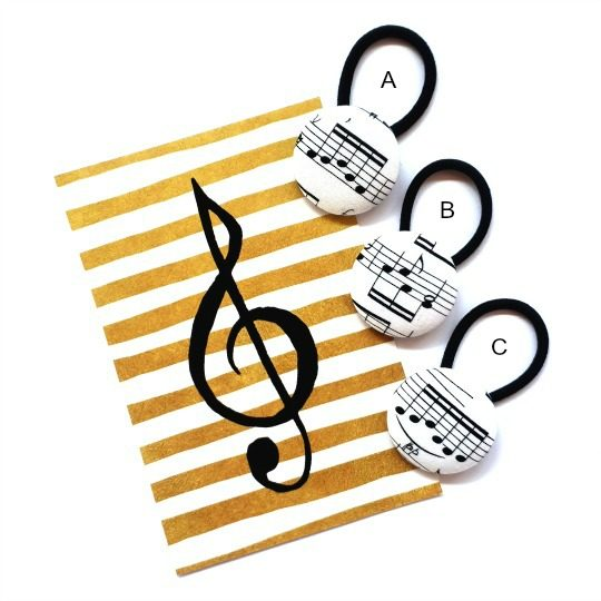 38mm Music Notes Flatlay with letters