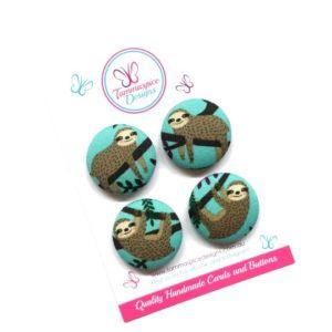 28mm Sloths Magnets