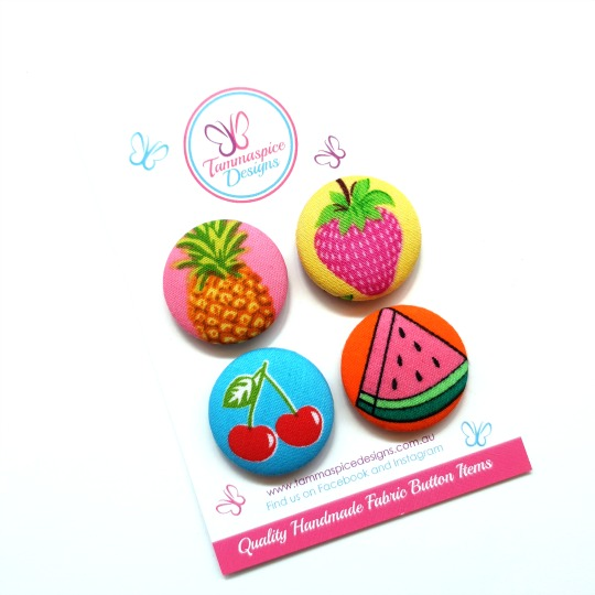 28mm Fruit Salad Magnets