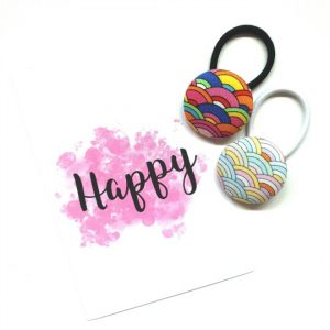 38mm Rainbow Button Elastics flatlay